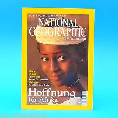 National Geographic September 2001 Afrika Zeitmessung Garifuna Walrosse Ägypten