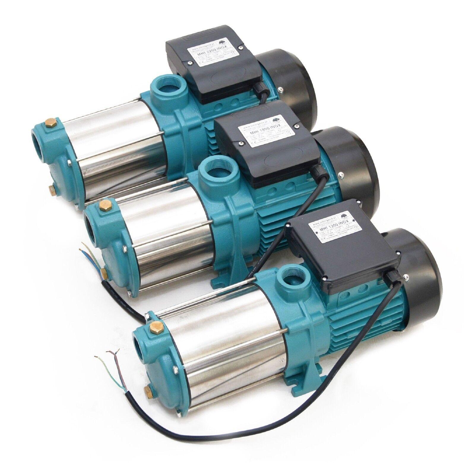 Gartenpumpe Kreiselpumpe 1300W 1800W 2200W INOX 230V, 6000-9600 l/h 5,5-5,8 bar