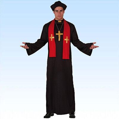 Priesterkostüm Gr. M/L Kostüm Pfarrer Pfarrerkostüm Kirche Pater - Pfarrer Kostüm