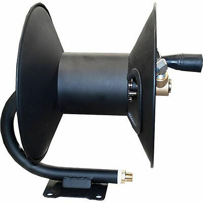 Ar North America 100ft Steel Pressure Washer 0.375in Hose Reel Black Forparts