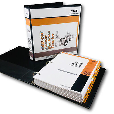 Case 580ck Tractor Loader Backhoe Service Manual Technical Shop Book