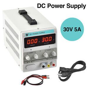 30V 5A DC Power Supply Adjustable Variable Dual Digital Lab Test
