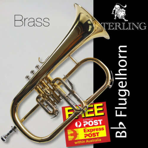 STERLING Bb Brass Flugelhorn • Case • New • Superb Flugel • FREE EXPRESS POST!!