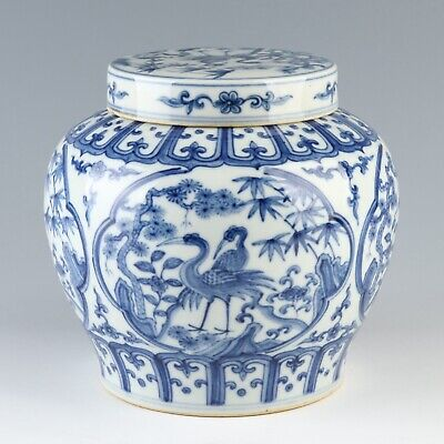 Chinese antique porcelain Ming dynasty style blue and white porcelain jar jug pot,Chinese antiques pot,Ornament,ceramicn vintage collection