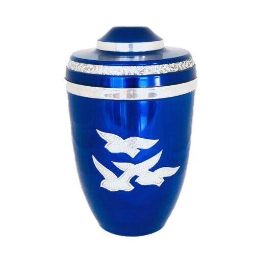 Well Lived® Blue Birds Flying Adult Cremation Urn for human ashes