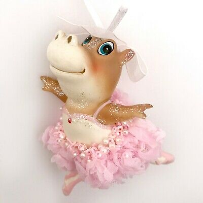 Fantasia Hippo Ballerina (Pink Hippo Ballerina Dress Christmas Ornament Princess Ballet Tutu Fantasia)