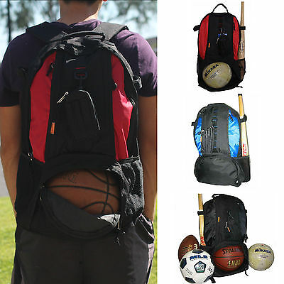 Sport Backpack Red Blue Black Fit Basketball Football Volleyball Soccer Shoes - Volleyball Backpacks