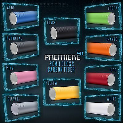 Full Overlay Panels - 4D Premiere Gloss Carbon Fiber Overlay Sheet Vinyl Wrap Bubble Free Air Release