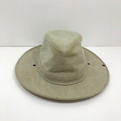 Henschel Genuine Canvas Safari Hat. Size X Large Tan color.EUC
