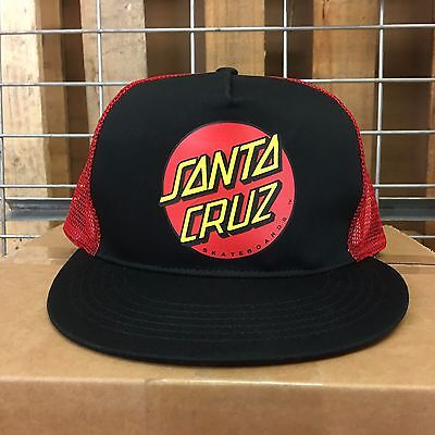 New Santa Cruz Men's Black/Red Trucker Mesh Hat - OS