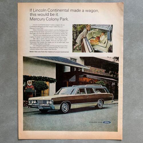 Vintage Mercury Colony Park Station Wagon Photo Print Magazine Ad 1968