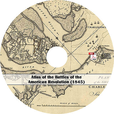 1845 Atlas of the Battles of the American Revolution - Maps History Book on CD