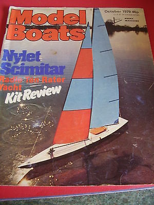 MODEL BOATS MAGAZINE OCTOBER 1979 SS GREAT BRITAIN MARIA SMITS NYLET SCIMITAR for sale  Shipping to South Africa