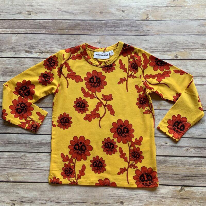 Mini Rodini Flower Face T-Shirt, 92-98 Cm
