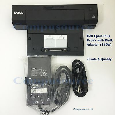 Dell Docking Station E-Port Plus PRO2X with PA4E Adapter E6400 E6410 E6420 E6500