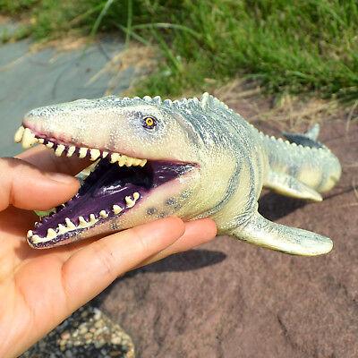 Jurassic Big Mosasaurus Dinosaur toy Soft PVC Action Figure Hand Painted Animal  - Dinosaur Hands