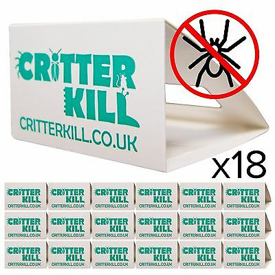 SPIDER KILLER TRAPS INSECT SPRAY POISON FREE TRAP CRAWLING PEST CONTROL BUG X 18