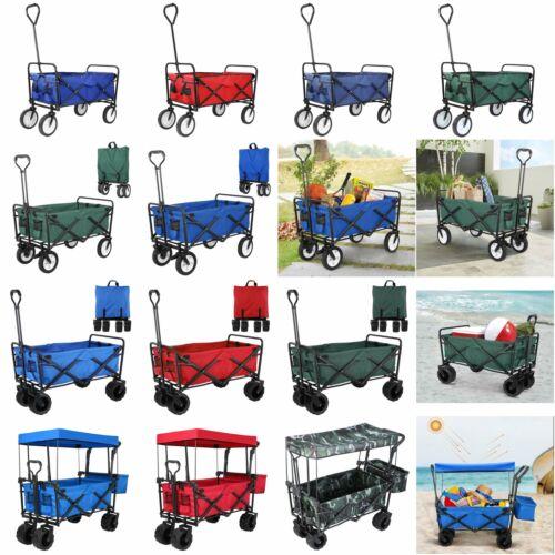 Outdoor Collapsible Folding Utility Wagon Cart Safe Garden C