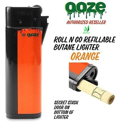 Used, Ooze Roll N Go Refillable Butane Lighter Secret Stash Spot Smell Proof Orange for sale  Waterford