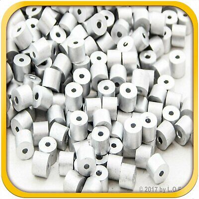 250 Ferrule Stop Rope Cable Wire End Snare Swage Sleeve Trap 1.5mm 116in New