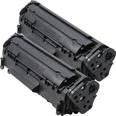 2PK Q2612A 12A Toner Cartridge For HP LaserJet 1018 3050 3052 3055 M1319F