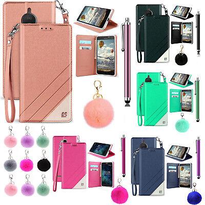 For 5 2  Motorola Moto E5 Play E5 Cruise Case Kickstand Wallet Screen Flip Cover