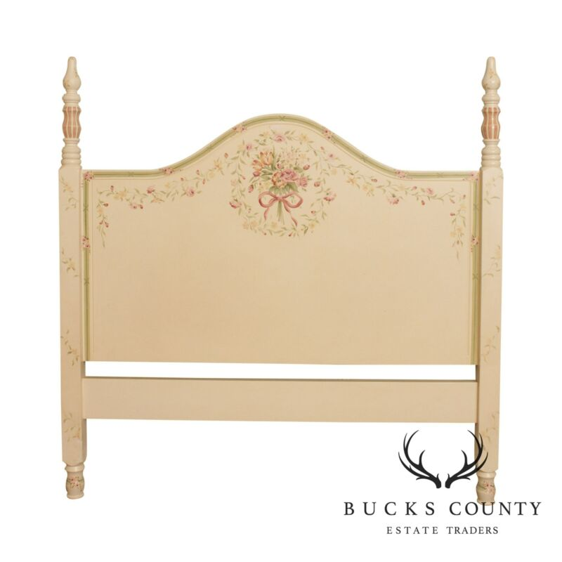 Floral Hand Painted Queen Size Headboard