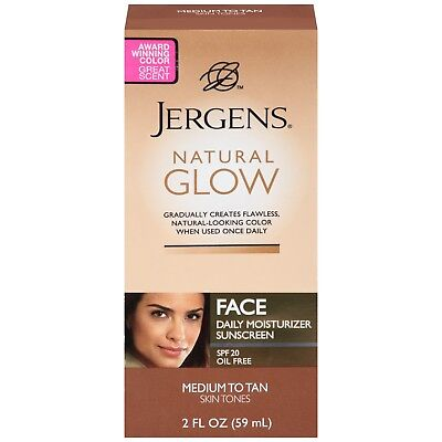 Jergens Natural Glow Face Daily Moisturizer with Sunscreen Spf 20 Medium To -