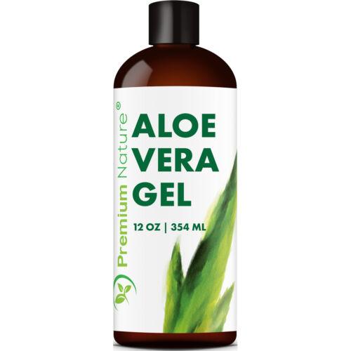 Aloe Vera Gel for Face Body & Hair, 12 oz, Pure & Natural, S