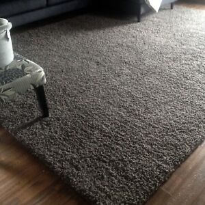 NEW...10ftx12ft dark grey area rug! Paid 350...