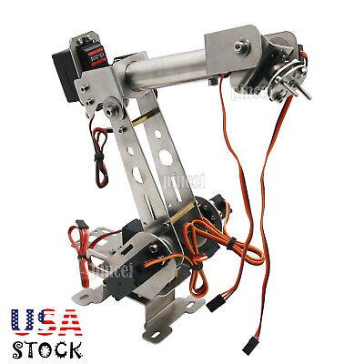6dof Robot Mechanical Arm Clamp Servos Diy Kit For Robotic Car Arduino Usa