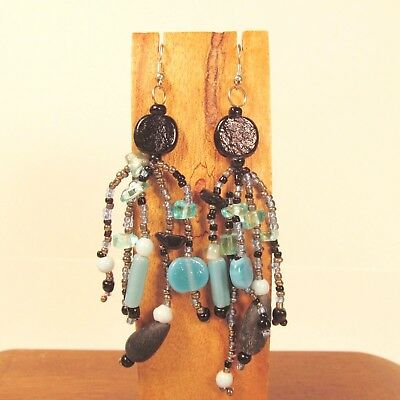 Wholesale Lot 6 PCS Handmade Beaded Boho Chandelier Dangle Earrings 6 COLORS