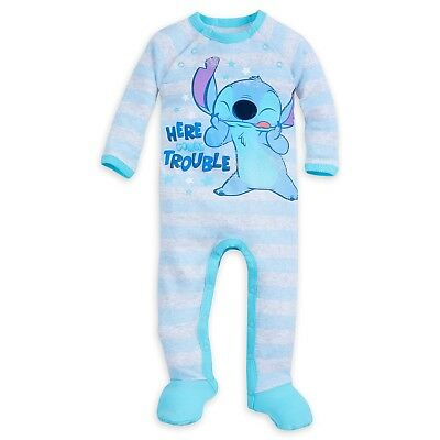 Disney Store Stitch Stretchie Sleeper for Baby Costume Footed Pajamas PJs NEW