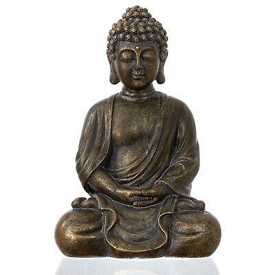 "dharma emporium Buddha Statue, Antique Bronze Finish, 8"", Meditating,Amitābha Buddha Bronze Finish"