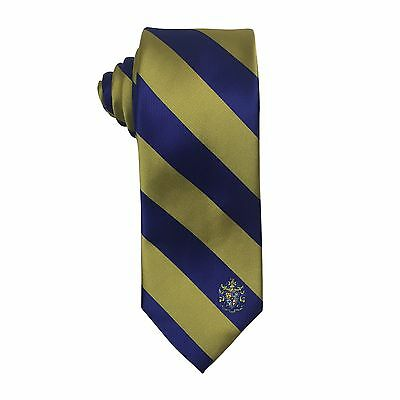 Sigma Alpha Epsilon Sae Striped Crest Design Tie   Brand New Product