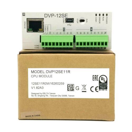 New Genuine Delta DVP12SE11R PLC DI 8 DO 4 Transistor 24VDC