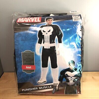 The Punisher Adult Costume Marvel Comics Brand New STANDARD SIZE Muscle Suit - Adult Muscle Suit