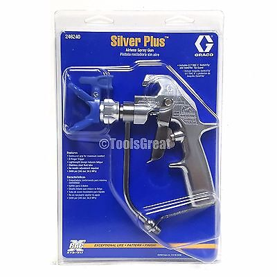 New Graco 246240 Silver Plus Gun With Ltx517 Tip 246215 Rac X Tip Guard