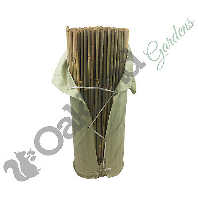 250 x 3ft (90cm) Thick Bamboo Canes Sticks Strong Garden Plant Support 14-16mm