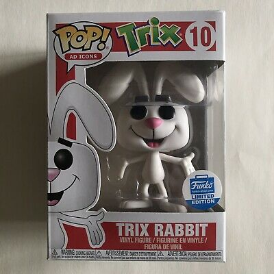 Funko Pop! Ad Icons: Trix Rabbit #10 Funko-Shop LE Trix Cereal Figure -READ DESC