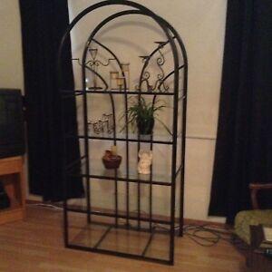 Black glass shelf