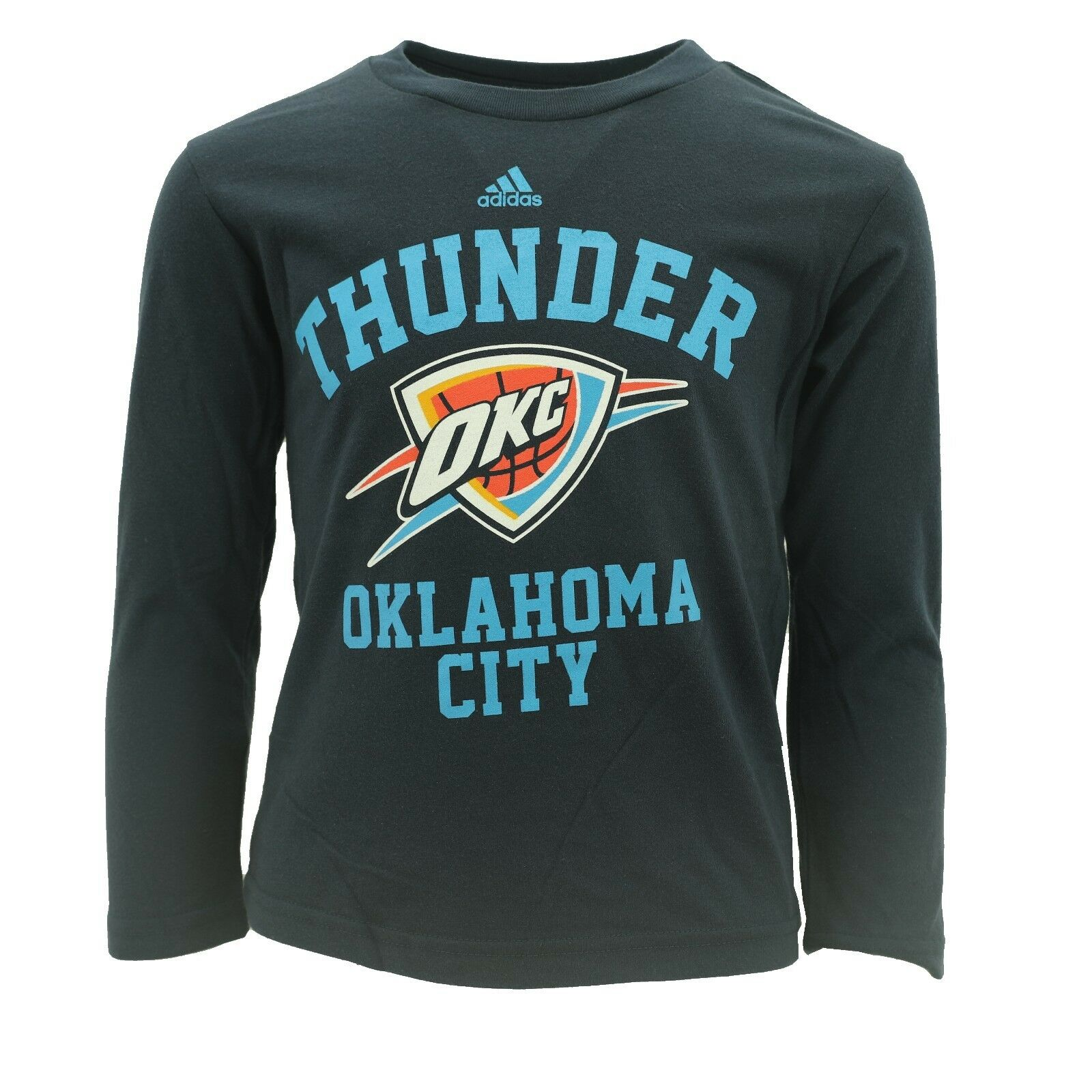 8d4d93b0f Oklahoma City Thunder Youth Kids Size Official NBA Adidas Long Sleeve Shirt  New