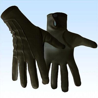 Schwarze Herren Handschuhe mit Druckknopf für Hochzeit Feiern Partys Kostüme