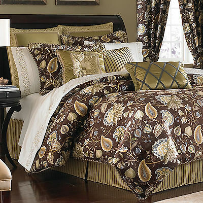 6pc SET,CROSCILL AMAYSIA JAVA FULL COMFORTER 2 PILLOW SHAMS+2 EURO (Croscill Euro Comforter)