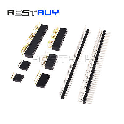 Pin Header Connector 3to40 Pin 2.54mm Right Angle Singledouble Malefemale Bbc