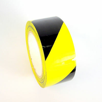 1 Roll Striped Vinyl Tape - Blackyellow - 2 48mm X 108 Ft