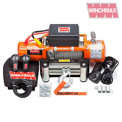 ELECTRIC WINCH 12V 4x4 13500 lb WINCHMAX BRAND - Recovery - Off Road - WIRELESS