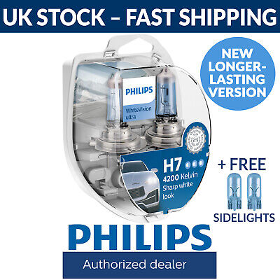 Car Parts - Philips WhiteVision Ultra H7 Car Headlight Bulbs H7 (Twin Pack) White Vision