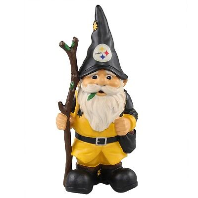(Pittsburgh Steelers Holding Stick Decorative Garden Gnome 10