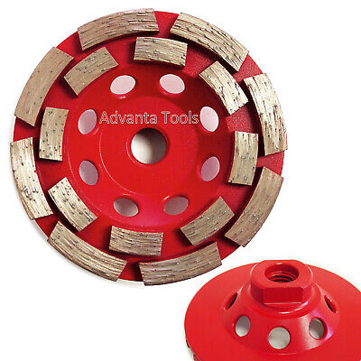 4 Double Row Concrete Diamond Grinding Cup Wheel 16 Segs 58-11 Arbor